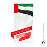 Vector abstract banner template for United Arab Emirates.
