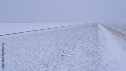 Fotobehang Noordzee alles ist weiß an der Nordsee