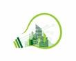 abstract eco city and lightbulb - 210999073