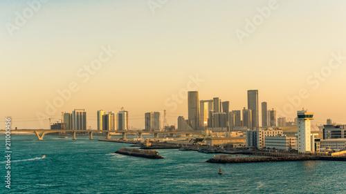 Fotobehang Abu Dhabi Hafen von Abu Dhabi