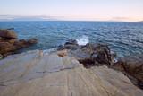 Sea surf on the stone coast - 211002820