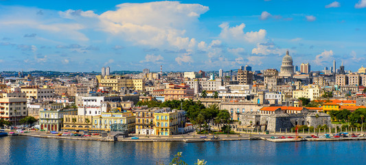 Panoramic view of Havana, the capital of Cuba © siempreverde22