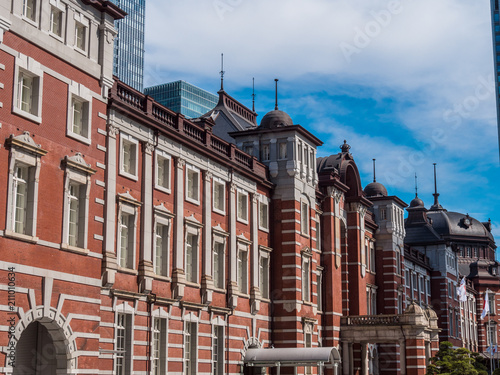 Tokyo station - the central railway station in the city