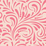 Abstract curly seamless pattern. Swirl background. Vector illustration. - 211022884