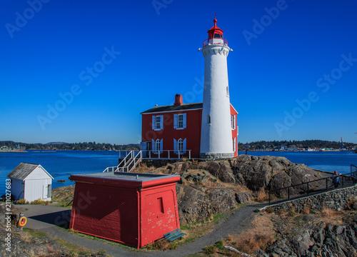 Plexiglas Vuurtoren Lighthouse on sunny day