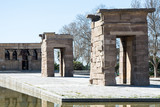 Madrid, Spain July 2016 Debod temple in Madrid Spain
