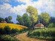 Oil paintings rural landscape.Fine art. - 211050077