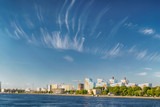 Riverside panoramic cityscape with new buildings construction in Saint Petersburg, Russia - 211052697