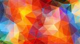 Multicolor color geometric triangle wallpaper - 211056853