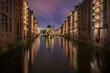 Leinwanddruck Bild - Wasserschloss Hamburg