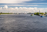 Neva river panoramic view in Saint Petersburg, Russia - 211059282