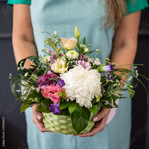 nice flowers in the hands