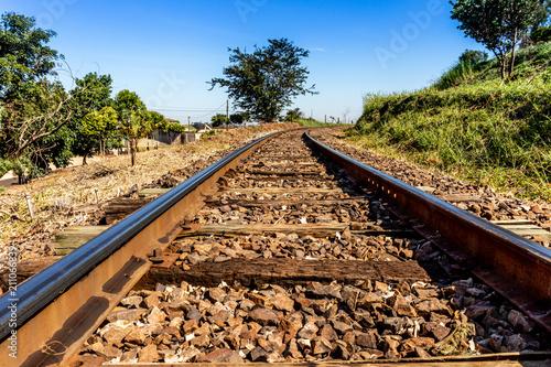 Aluminium Spoorlijn Train Line