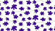 Seamless floral pattern - ultra violet colored flowers and styled green leaves. Natural background. No gradiient, no transparency.