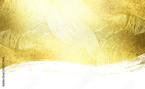 金色の波打つテクスチュア(クローズアップ)