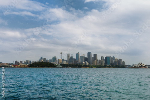 sydney as seen from the harbour
