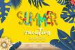 Summer vacation background vector. Summer holidays and beach holidays.