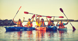 Wild nature and water fun on summer vacation. Camping and fishing. - 211132672