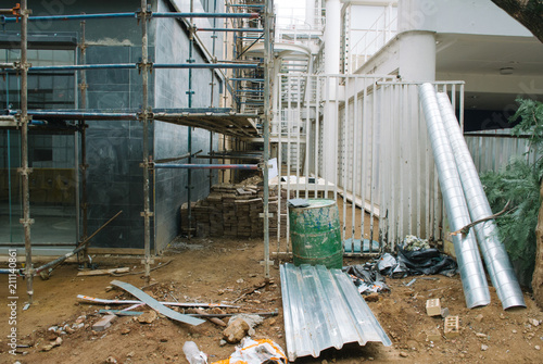 Aluminium Gebouw in Puin Building under construction