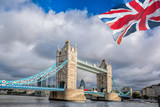 Famous Tower Bridge in London, United Kingdom - 211141429