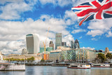 The City of London with boats in United Kingdom - 211141464