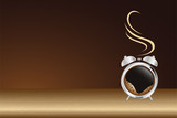 alarm clock and coffee - 211145040