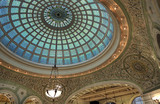 Chicago, Illinois, USA - June 22, 2018 - View of the interior and of the dome at the Chicago Cultural Center. - 211152685