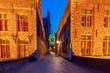 Brugge. Old medieval street.