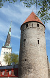 Medieval tower in Tower's Square, Tallinn - 211164071