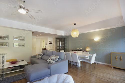 Interior de casa sala de estar