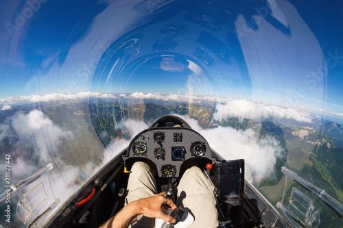 Foto Murales Mit dem Segler über den Wolken