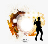 Fit young male jogger. Healthy lifestyle. Vector easy to editable  - 211181438