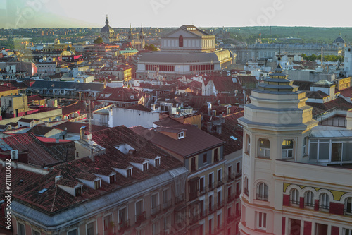 Rooftop View of Madrid from Callao Square - 211183632