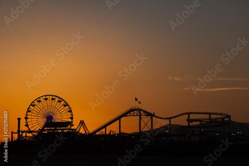 Sunset in Santa Monica, California