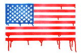 Spray painted American flag background - 211206899