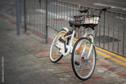 Plexiglas Fiets The rental bike in town