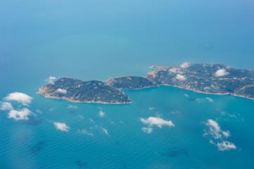 aerial view of islands in Hong Kong © thanarak