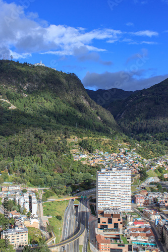 Plexiglas Khaki Aerial view on the center of bogoata