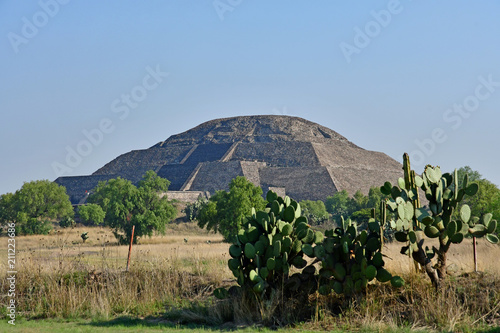 Teotihuacan;  United Mexican State - may 13 2018 : pre Columbian site