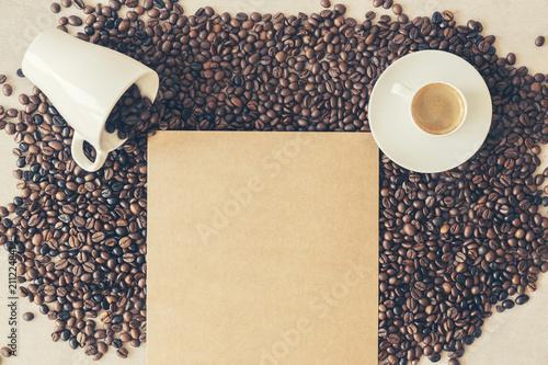 Fotobehang Koffiebonen Coffe Time