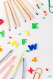 Back to school concept with office supplies - 211228293