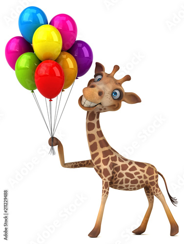 Fototapeta Fun giraffe - 3D Illustration