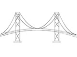 Bridge design - Architect Blueprint - isolated - 211231085