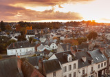 Aerial evening cityscape of Amboise town - 211231290