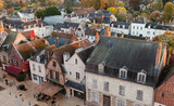 Aerial cityscape of Amboise, France - 211231294