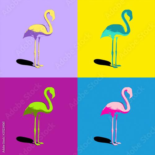 flamingi-turkusowe-zolte-fioletowe-rozowe