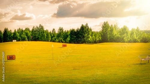 Fotobehang Meloen golf course background