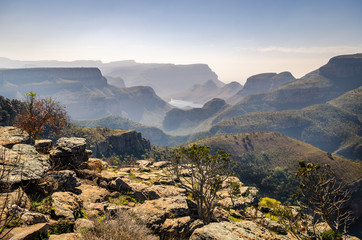 Blyde river canyon,  viewpoint to the canyon. Mpumalanga near Graskop. South Africa © Codegoni Daniele