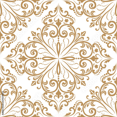 Fototapeta Wallpaper in the style of Baroque. A seamless background.