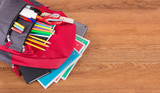 Backpack With Assortment of School Supplies - 211261294